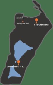 STB Orensanz Gravillons La Teste De Buch Map